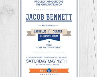 College Graduation Announcement