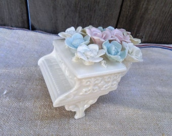 Vintage Ceramic Piano Jewelry box