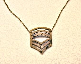 Rustic Chevron Necklace