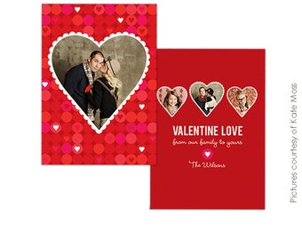 INSTANT DOWNLOAD - Valentine Photocard Template - Family love- E281