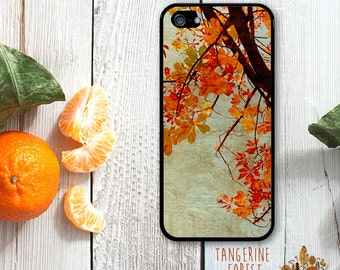 Beautiful Orange Fall Leaves. Available for iPhone 4/4s, 5/5s, 5c, 6/6s or 6+/6s+