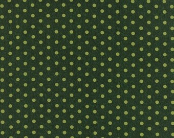 1/2 Yard - BE JOLLY Pine Green by Deb Strain for Moda Fabrics.