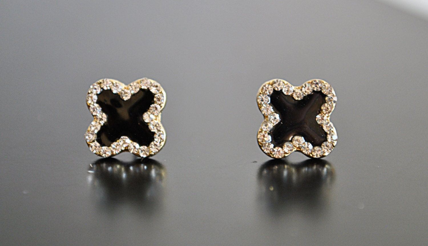 clover earrings studs black clover studs earrings sale 5104