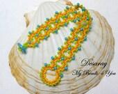 Beadwoven Bracelet, Seed Bead Bracelet, Turquoise Beaded Bracelet, Embellished Bracelet, Cuff Bracelet, Beadwoven, Beadwork Bracelet