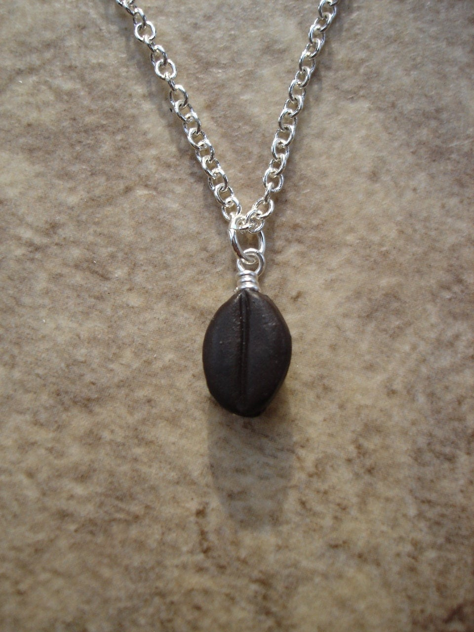 coffee bean necklace charm necklace java necklace caffeine