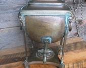 English Antique Brass Egyptian-Themed Urn/Samovar