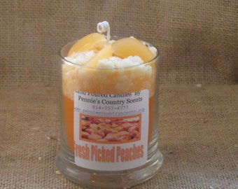 Fresh Peach  Gourmet Scented De-Light Candle
