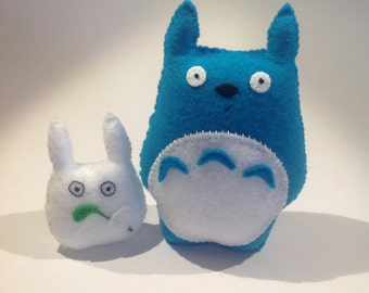 Chu and Chibi from My Neighbour Totoro -  Cute soft felt plush toys - Japanese animated collectable