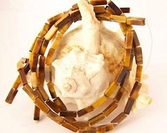 Rectangular Tube Beads - 15.5  inch strand - 13mm x 4mm