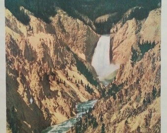 Original travel poster of Yellowstone Park for The Union Pacific Railroad 1930's