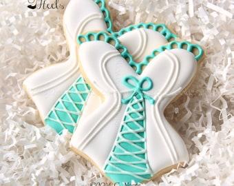 Bridal Shower Cookies, Decorated Cookies, Bustier Cookies, Bridal Shower Corset Cookies, Lingerie Cookies, Risqué Cookies