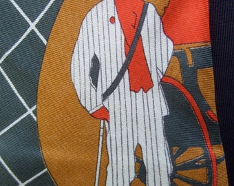 Italian Silk Print Mod Handmade Necktie c 1970