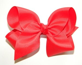 Red Extra Large Hair Bow