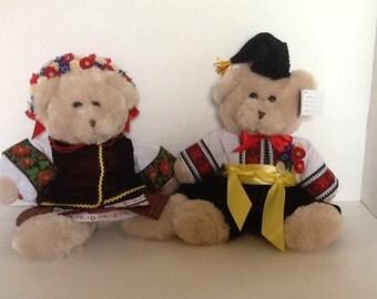 Ukrainian Bears dressed in Ukrainian costume from the Poltava Region