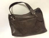 ROLFS Leather Purse Brown Vintage Hiptster Handbag  Genuine Leather