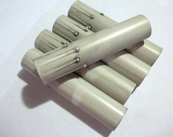 Chandelier Candle Sleeve One 4 Inch Silver Gray Drip