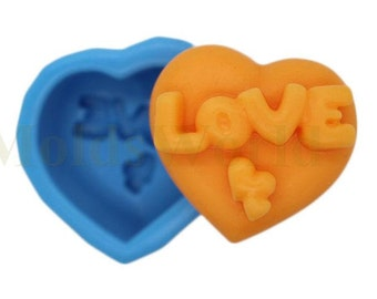 A184 Heart Love Food Safe Fondant Silicone Mold Cake Decorating Mould Making