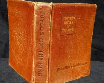 Tennyson's Idylls Of The King, 1920  Macmillan's Pocket Classics edition vintage book, FREE SHIPPING!