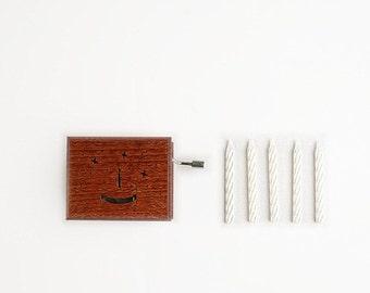 "Birthday wooden music musical box  ""Happy Birthday To You"""