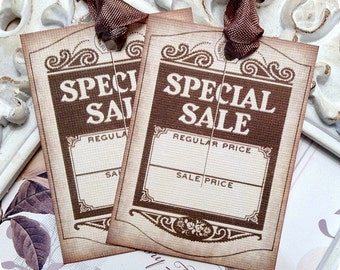Special Sale Tags (6) - Price Tags-Hang Tags-Vintage Style Tags-Gift Tags-Boutique Tags-Product Tags-Price Labels-Boutique Labels