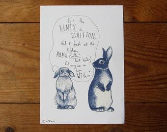 Ignition A5 Print - Serenading Rabbit - R Kelly