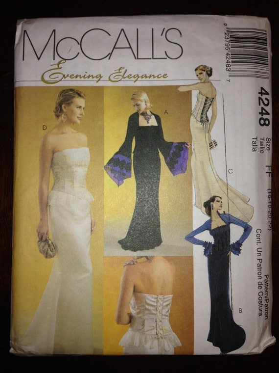 McCalls Sewing Pattern 4248 UNCUT Misses and Petite Lined Tops and Skirt Size 16, 18, 20, 22