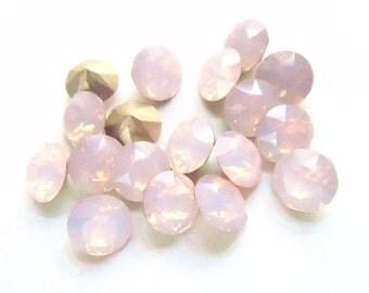 18 Rose Water Opal 34ss Swarovski Xirius Round Rhinestones-Loose Rhinestones-Loose Crystals-Wholesale Rhinestones-