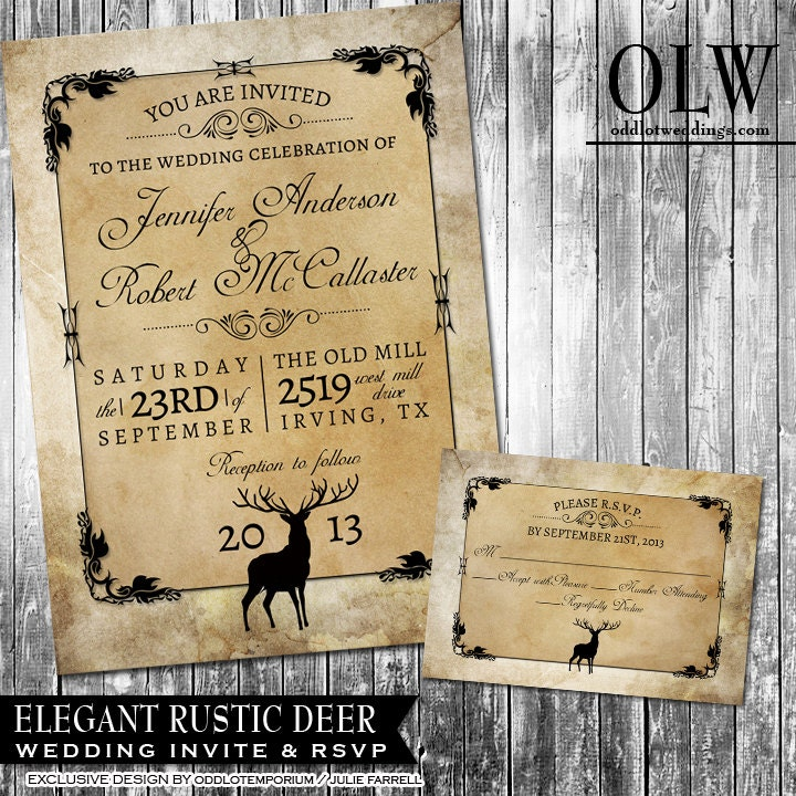 Deer Wedding Invitations is an amazing ideas you had to choose for invitation design