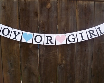 Boy or girl banner | Etsy