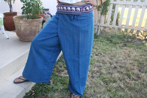 Thai Pants, hippie pants, Thai Fisherman Pants, Boho Chic, herem pants, Fisherman Pants, unisex  pants, Thailand Clothing - By PiYOYO