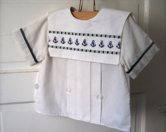 Vintage Children's Sailer Top by Judy Lynn, Size 4T