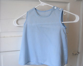 Vintage Baby Slip in Pastel Blue
