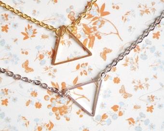 Triangle bracelet - metal silver or gold tone - geometric bracelet - everyday bracelet