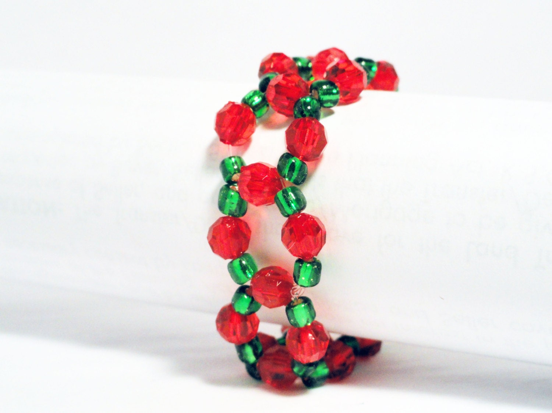 Christmas Napkin Rings Beaded Napkin Rings By