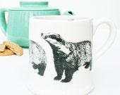 Large Badger Mug