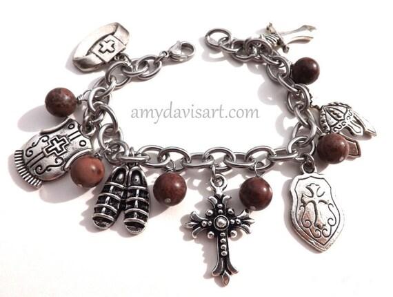armor of god charm bracelet ephesians 6 10 20 stainless