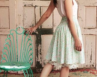 Naïve Floral Romantic princess-cut 80s Vintage Skirt