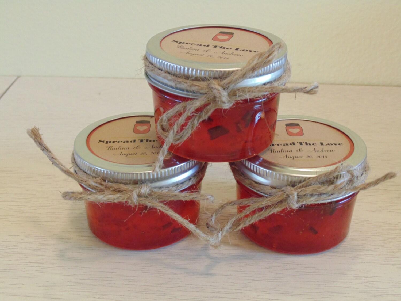 mason jar jam wedding favors mini jars shower favors. Black Bedroom Furniture Sets. Home Design Ideas
