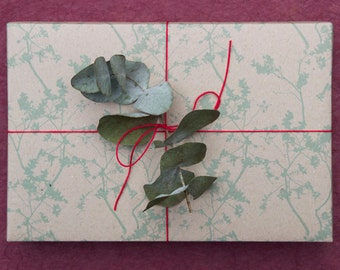 Green Wrapping Scrapbooking or Origami Paper 'Nero Green'