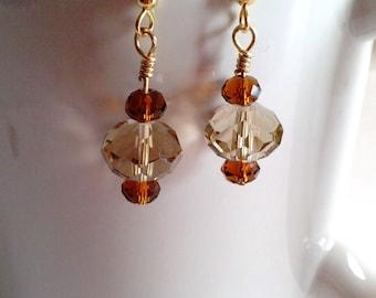 Beaded Earrings - Crystal