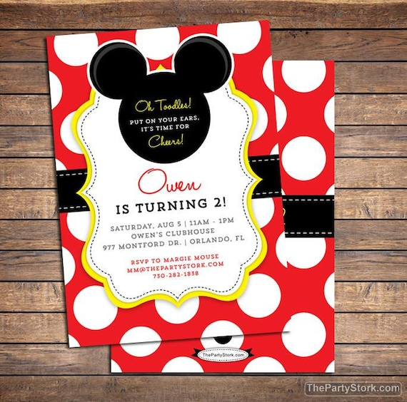 mickey mouse invitation mickey mouse birthday invitations mickey mouse birthday party