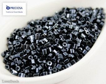 20g 9/0 Czech Seed Beads Two Cut Opaque Hematite Gray 2cut NR 218 9/0 Opaque seed beads Gray seed beads last