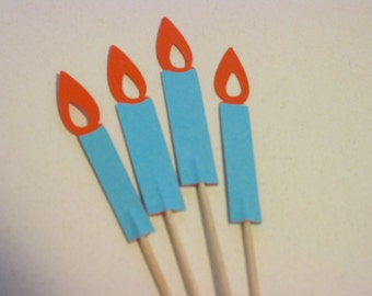 12 Candle cupcake toppers