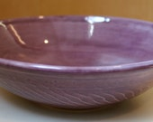 Hand Carved Purple Bowl
