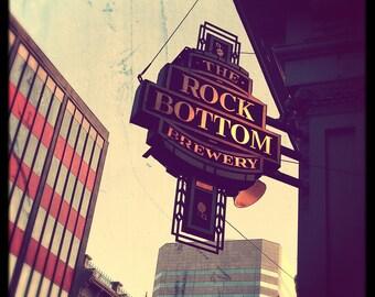 Portland Oregon Photography Rock Bottom Brewery--Fine Art Photography 8x8