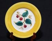 """Stangl Pottery 9"""" Della Ware Cherry Plate"""