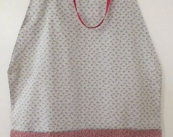 "Grey/Maroon Square ""Towel"" Apron"