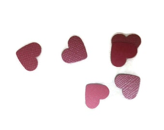 Dual Side Shimmer / Matte Pink OR Your Color Choice Mini Hearts Table Scatter / Confetti / Embellishments