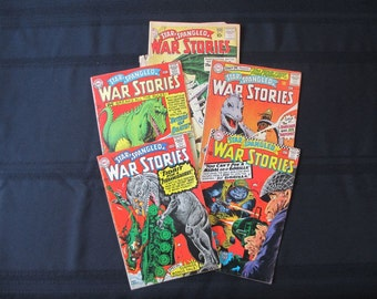 1960's Comic Books Star Spangled War Stories 122, 123, 125, 126 and 95 DC Comics (Set of Five)