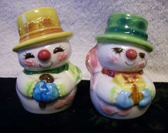 Snowmen Salt & Pepper, Japan, Numbered with Seal